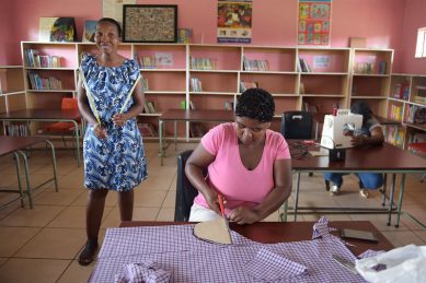 Thabang Primary School sewing project makes a difference